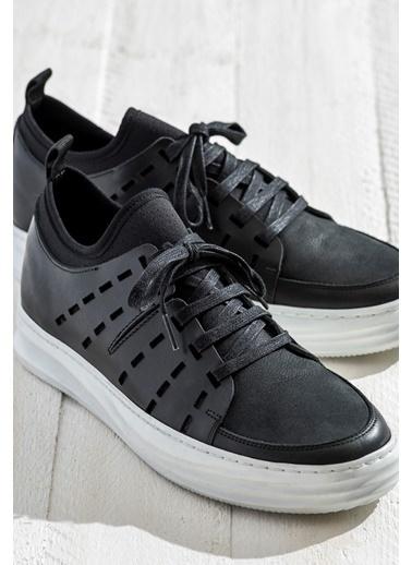 Elle Bağcıklı Ayakkabı Siyah
